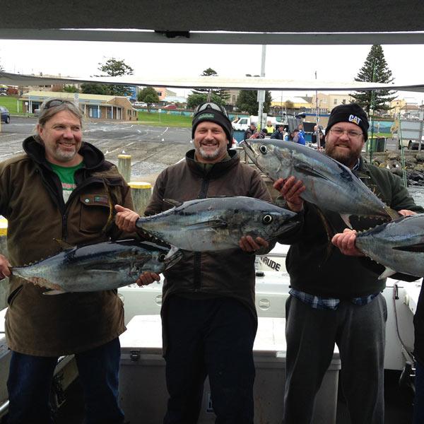 tuna fishing guided charter portland Victoria